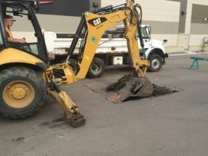 asphalt excavation